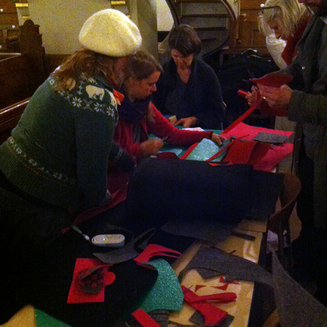 Recycled christmas workshop by thomas dambo