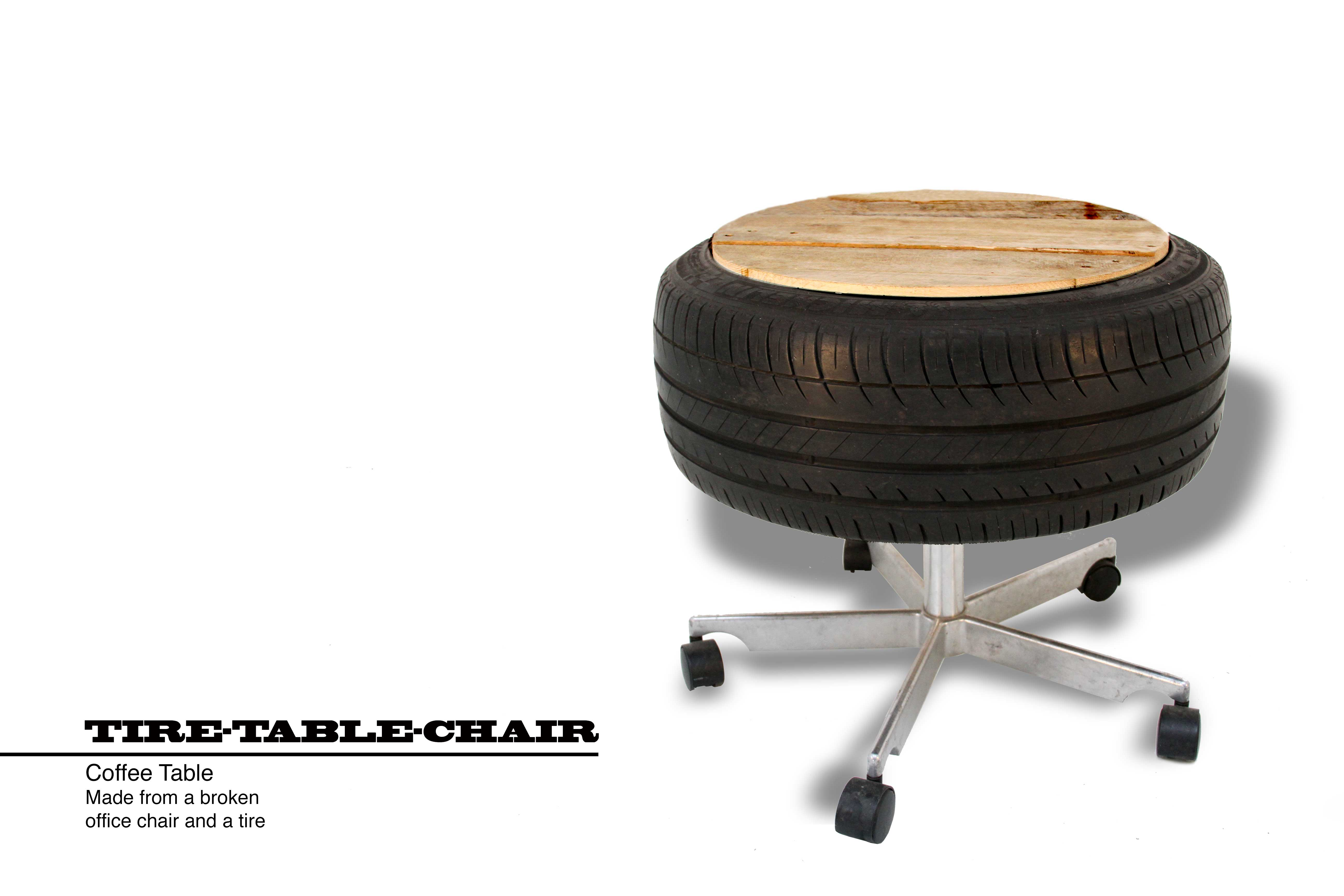 Tire Table Chair Thomas Dambo