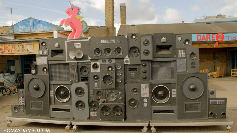 Speaker-system made from trash