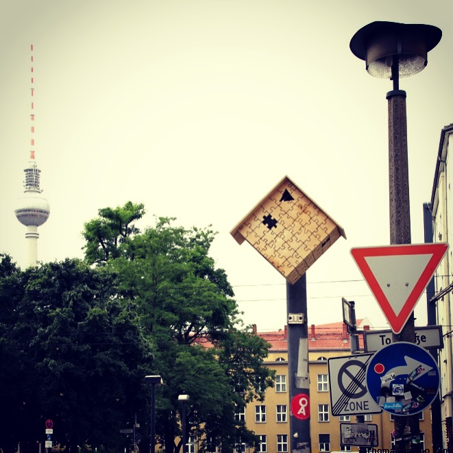 Special made birdhouse in the center of Berlin