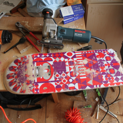 skate board to be upcycled