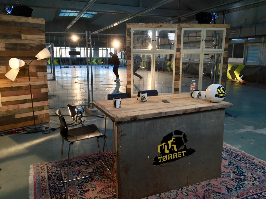 Upcycled TV studio