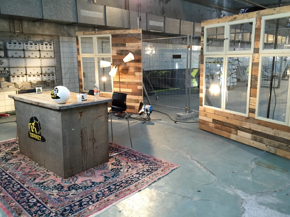 TV studio from recycled materials