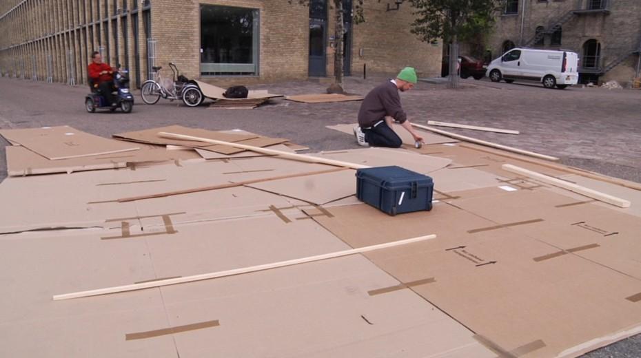 Cardboard for boat