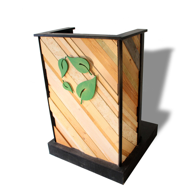 Upcycle lectern made from scrapwood