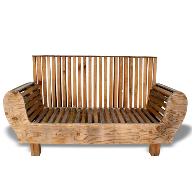 Recycle couch made from scrapwood