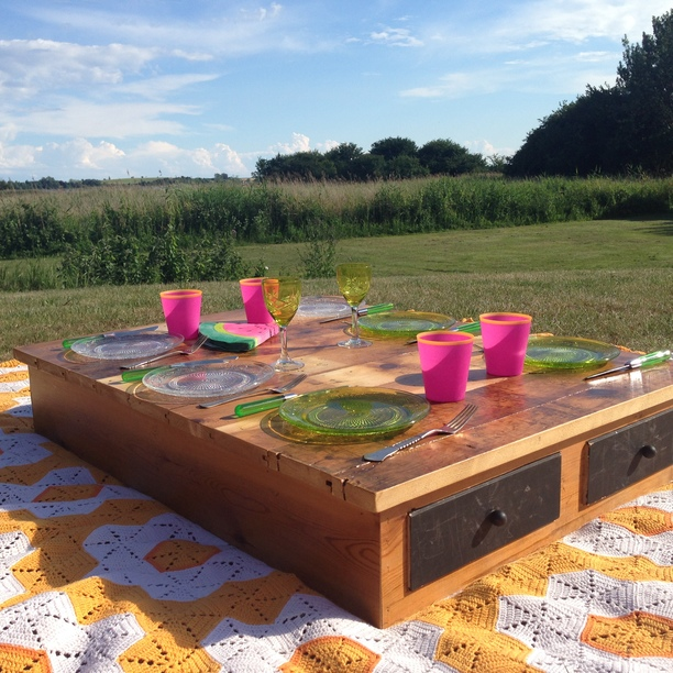 Recycled picnic table made from scrapwood