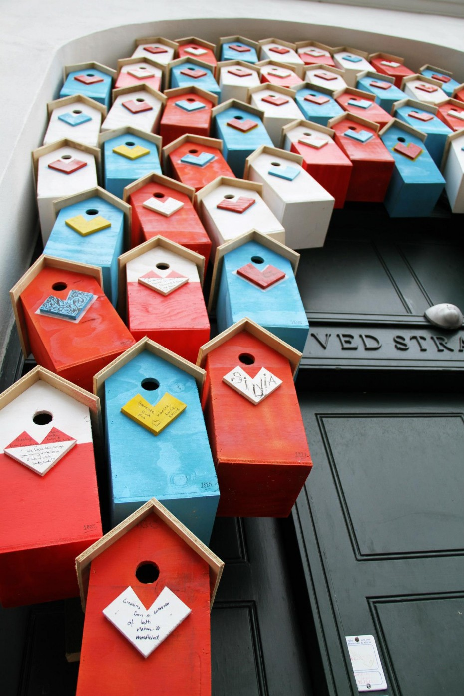 Recycled nordic birdhouse by recycle artist Thomas Dambo